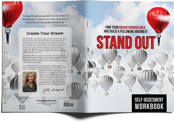 Example of a Standouthandout cover design