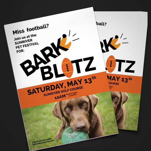 Bark Blitz logo/flyer