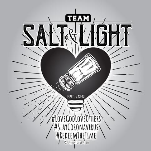 salt and light t shirt design