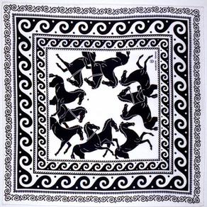 Chevaux et Grecs : le foulard du G7