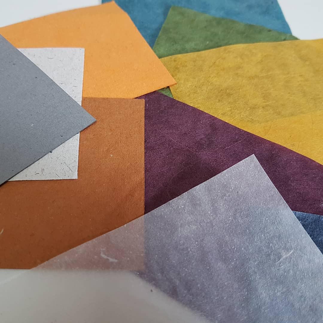 Papéis da Moinho Brasil, em várias cores