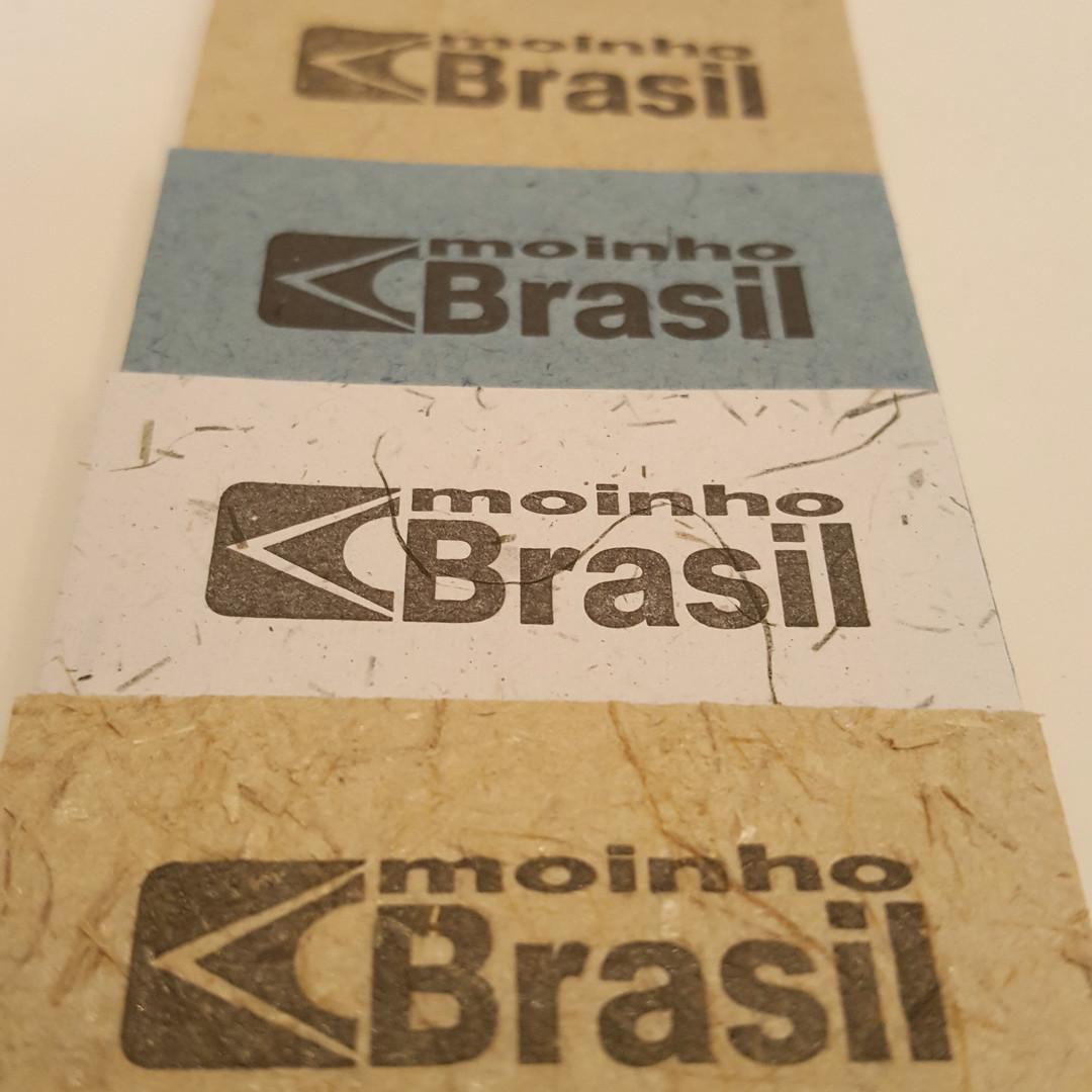 Impressões em Letterpress no papel Moinho Brasil