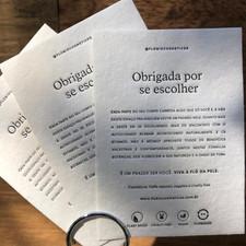 @flobiocosmeticos Impresso por Letterpress Brasil: @letterpressbr