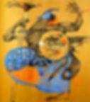 Tempera no papel Oiapoque de Paulo Sayeg