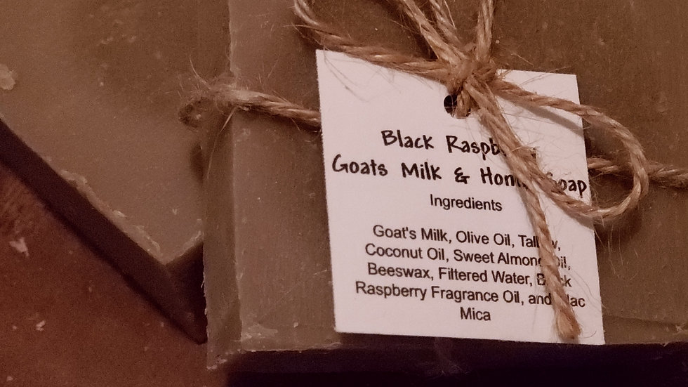 Black Raspberry Goat's Milk & Honey Soap