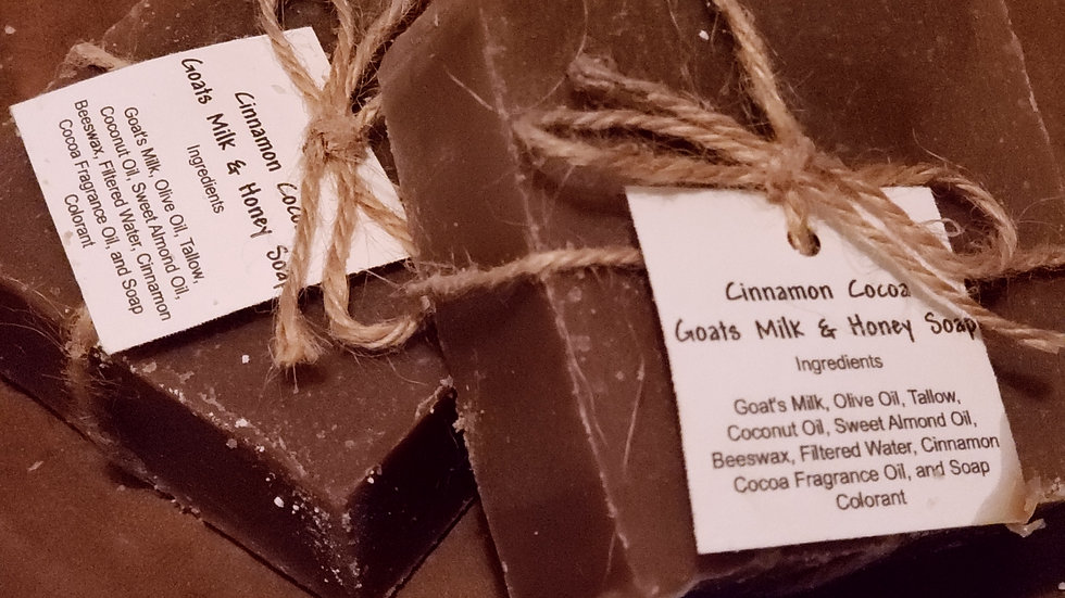 Cinnamon Cocoa Goat Milk & Honey Soap