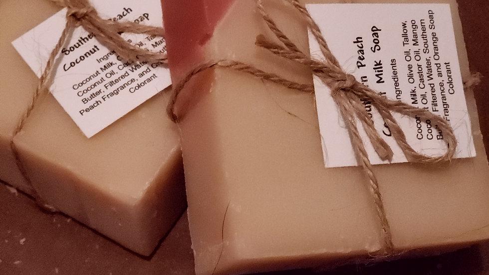 Southern Peach Coconut Milk Soap