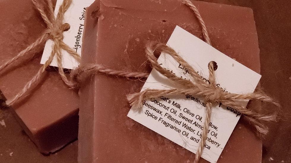 Ligonberry Spice Goat's Milk & Honey Soap