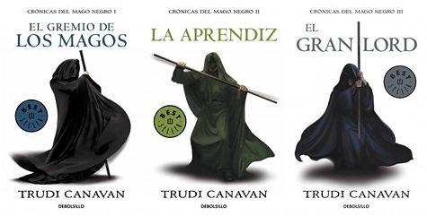 Portadas de Crónicas del mago negro