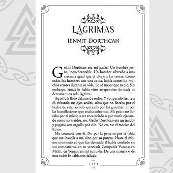 Diseño interior del inicio de uno de los capítulos (por Valhalla Ediciones)
