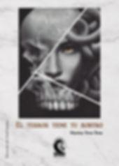 Portada de El terro tiene tu rostro, de Marina Tena Tena, editado por Hela Ediciones
