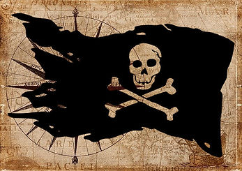 La archiconocida bandera pirata. ¿Quién no temería verla en el horizonte?