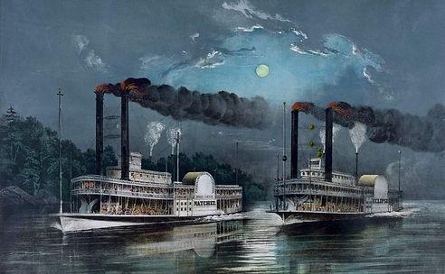El Natchez y el Eclipse, dos vapores rivales del Sueño de Fevre