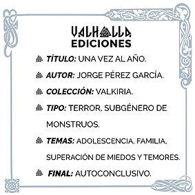 Ficha de Una vez al año, de Jorge Pérez García