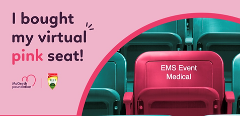 McGrath Foundation Pink Seat