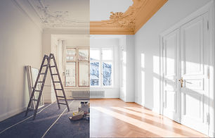 renovation concept - room before and aft