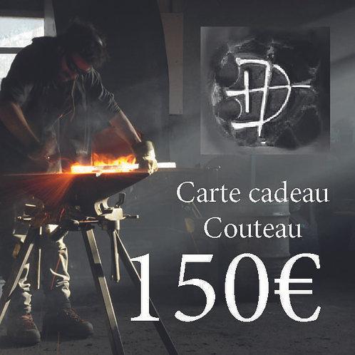 Carte cadeau pour un couteau d'une valeur de 150 €