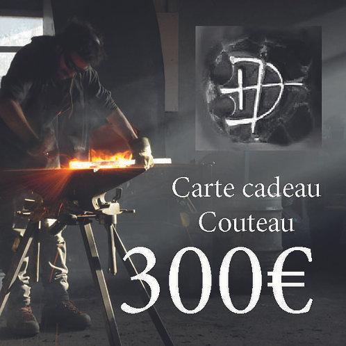 Carte cadeau pour un couteau d'une valeur de 300 €