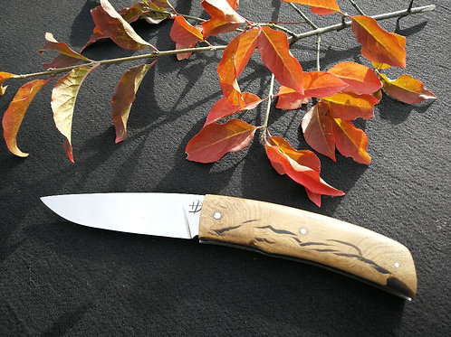 couteau pliant carbone chêne hybride