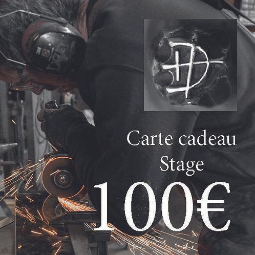 Carte cadeau pour un stage d'une valeur de 100€
