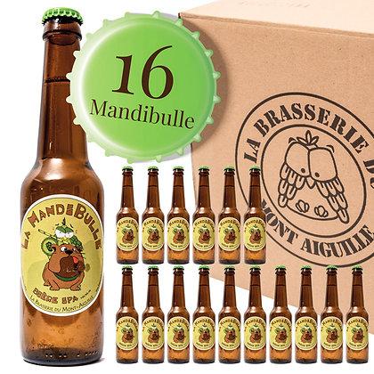 Mandibulle - Pack de 16 bières IPA aux houblons aromatiques