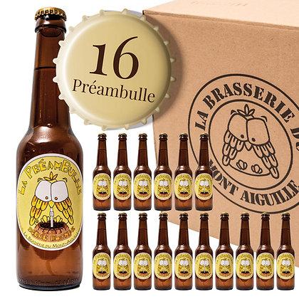 Préambulle - Pack de 16 bières blondes