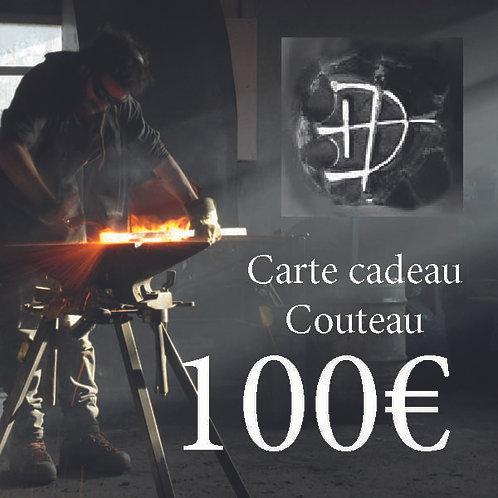 Carte cadeau pour un couteau d'une valeur de 100 €