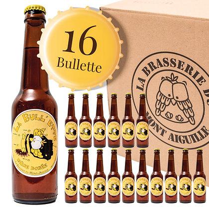 Bullette - Pack de 16 bières blondes typées belge