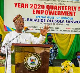 LAGOS EMPOWERS 1050 INDIGENT LAGOSIANS
