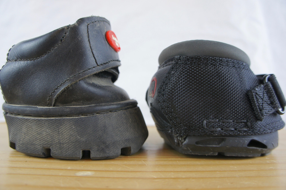 Easyboot on the left, Cavallo boot on the right