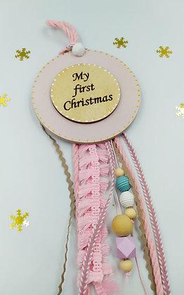 """Παιδικό γούρι """"My first Christmas"""""""