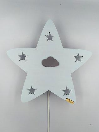 Φωτιστικό Αστέρι baby blue