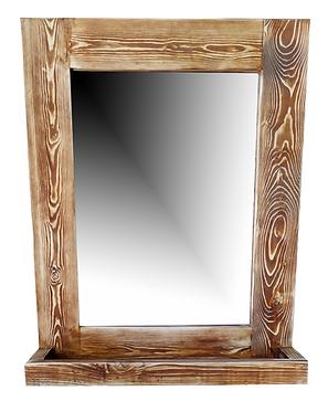 Ξύλινος Καθρέφτης με ραφάκι