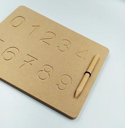 Ξύλινος πίνακας προγραφής αριθμοί