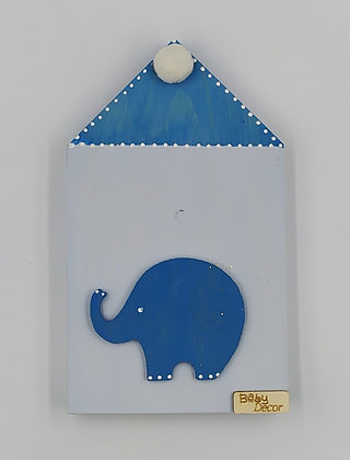 Ξύλινο Σπιτάκι Μπεζ-Μπλε