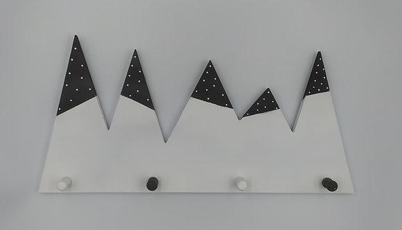 Κρεμάστρα Παγόβουνο άσπρο-μαύρο