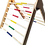 Thumbnail: Climbing Triangle Pikler με χρωματιστά σκαλάκια (Τρίγωνο Αναρρίχησης)