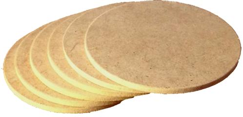 Σουβέρ στρόγγυλα (σετ 6 τεμ.) 500-104