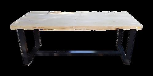 Ξύλινο Τραπέζι με μεταλλικά πόδια