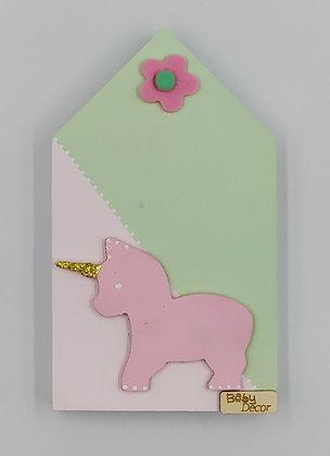 Ξύλινο Σπιτάκι Ροζ-Μέντα