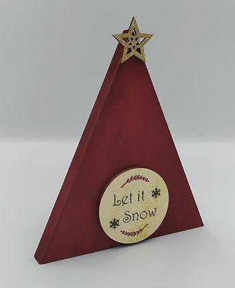 """Τρίγωνο στεκούμενο """"Let it Snow"""""""