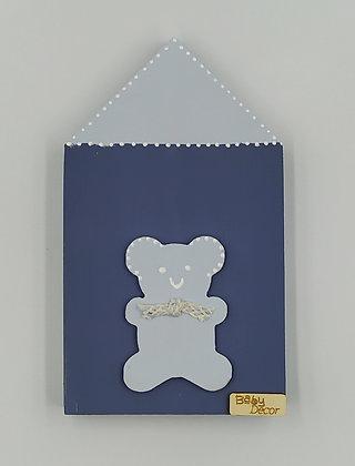 Ξύλινο Σπιτάκι Γαλάζιο-Μπλε