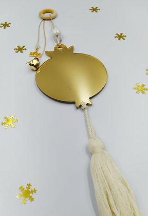 Plexiglass χρυσός καθρέφτης ρόδι