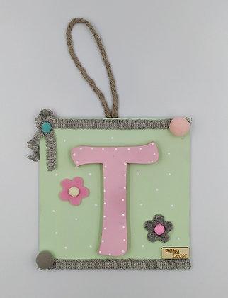 Μονόγραμμα ροζ με μέντα
