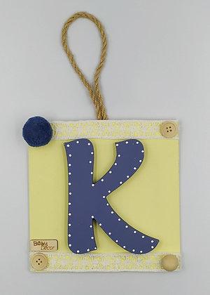 Μονόγραμμα μπλε με κίτρινο