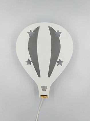 Φωτιστικό Αερόστατο Λευκό με Γκρι
