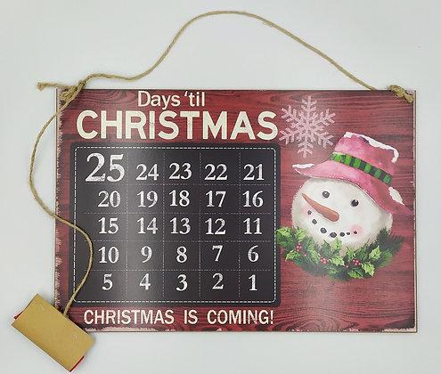 Μαυροπίνακας αντίστροφης μέτρησης για τα Χριστούγεννα
