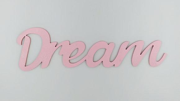 """Λέξη επιτοίχια """"Dream"""" ροζ"""