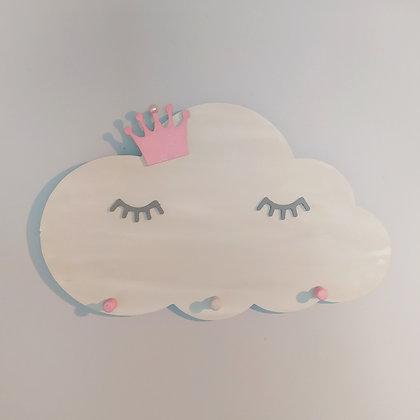 Κρεμάστρα Σύννεφο λευκό με ροζ κορώνα
