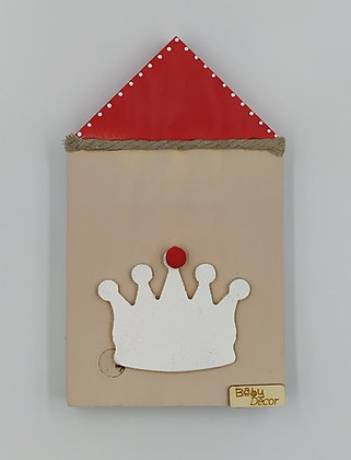 Ξύλινο Σπιτάκι Μόκα-Κόκκινο